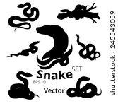 snake set  vector  eps 10 | Shutterstock .eps vector #245543059