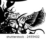 black and white grunge... | Shutterstock .eps vector #2455432
