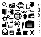 website icons set great for any ... | Shutterstock .eps vector #245544625