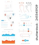 vector elements of infographics ...