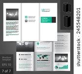 white classic brochure template ... | Shutterstock .eps vector #245548201