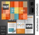 color brochure template design... | Shutterstock .eps vector #245549635