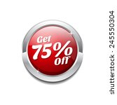 get 75 percent red vector icon...   Shutterstock .eps vector #245550304