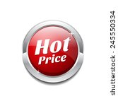 hot price red vector icon button | Shutterstock .eps vector #245550334