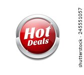 hot deals red vector icon button   Shutterstock .eps vector #245551057