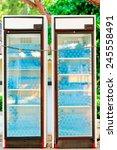 two refrigerators full of water ... | Shutterstock . vector #245558491