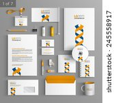 white corporate identity... | Shutterstock .eps vector #245558917