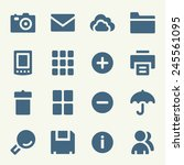 photo collection web icons set | Shutterstock .eps vector #245561095