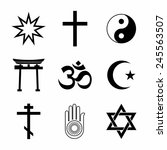 a set of religious symbols.... | Shutterstock .eps vector #245563507