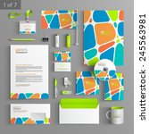 creative corporate identity... | Shutterstock .eps vector #245563981