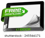 e book free download   tablet... | Shutterstock . vector #245566171