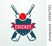 cricket sports concept with... | Shutterstock .eps vector #245567551