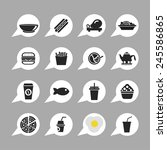 food icon set | Shutterstock .eps vector #245586865