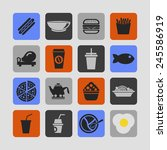 food icon set | Shutterstock .eps vector #245586919