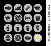 food icon set | Shutterstock .eps vector #245587021