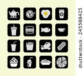 food icon set | Shutterstock .eps vector #245588425