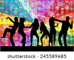 dancing silhouettes | Shutterstock .eps vector #245589685
