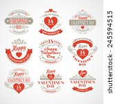 typography valentine's day... | Shutterstock .eps vector #245594515