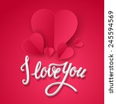 valentine's day cards. vector... | Shutterstock .eps vector #245594569