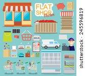 supermarket online website... | Shutterstock .eps vector #245596819