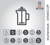 set of icons for cafe ... | Shutterstock .eps vector #245601139