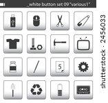 "white button set 09 ""various1""   Shutterstock . vector #2456033"