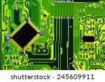 green computer electric circuit ... | Shutterstock . vector #245609911