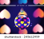 bright happy valentine's day... | Shutterstock .eps vector #245612959