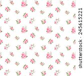 cute vintage rose pattern on... | Shutterstock .eps vector #245615221