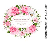vintage card with flowers  ... | Shutterstock .eps vector #245615389