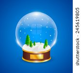 snow globe with christmas trees ...