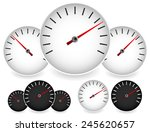 dial templates in black and... | Shutterstock .eps vector #245620657