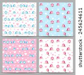 set of seamless patterns with