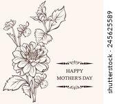 mother's day card design.... | Shutterstock .eps vector #245625589