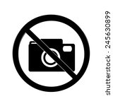 no photography sign | Shutterstock .eps vector #245630899