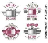 car battery shop  emblems.... | Shutterstock .eps vector #245635084