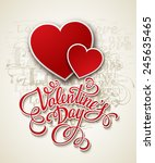 valentine's day cards. vector... | Shutterstock .eps vector #245635465