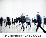 business people walking... | Shutterstock . vector #245637325