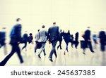 business people walking... | Shutterstock . vector #245637385