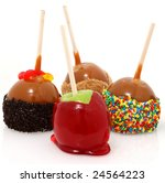Various Candied Apples On A...