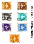 obsolete postage stamps from... | Shutterstock . vector #2456440