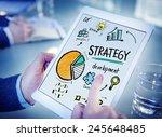 strategy development goal... | Shutterstock . vector #245648485