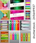 colorful modern text box... | Shutterstock .eps vector #245649937