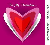 be my valentine card with... | Shutterstock . vector #245653765