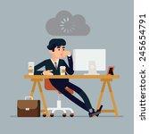 vector modern creative flat... | Shutterstock .eps vector #245654791