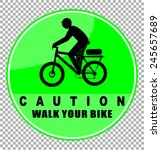 walk your bike | Shutterstock .eps vector #245657689
