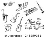 musical instrument icons in... | Shutterstock .eps vector #245659351