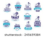 summer holidays labels or... | Shutterstock .eps vector #245659384