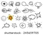 comic book explosion clouds and ... | Shutterstock .eps vector #245659705
