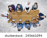 diversity business people team... | Shutterstock . vector #245661094